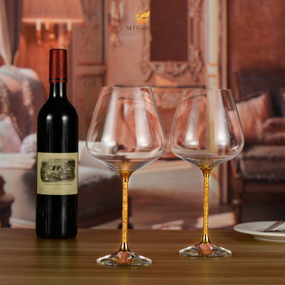 Ly rượu vang pha lê