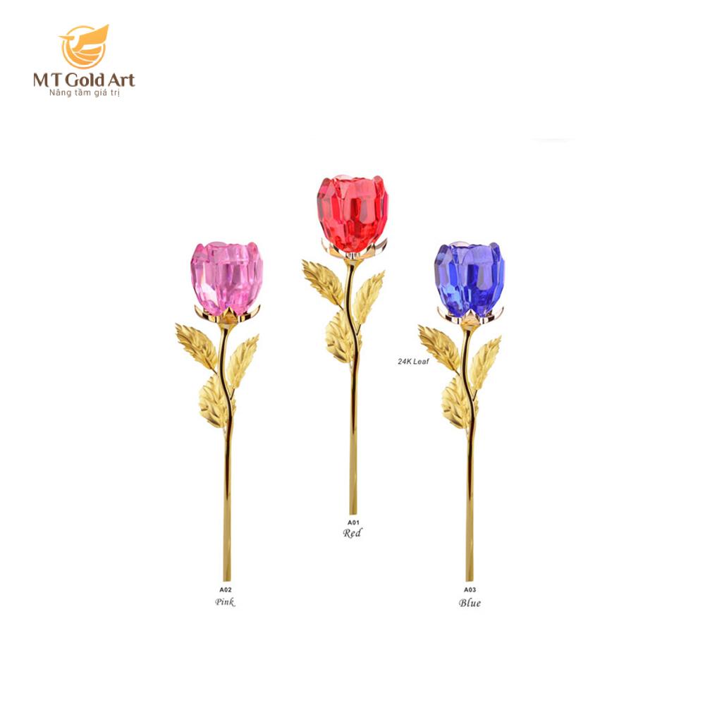Cành hoa hồng pha lê