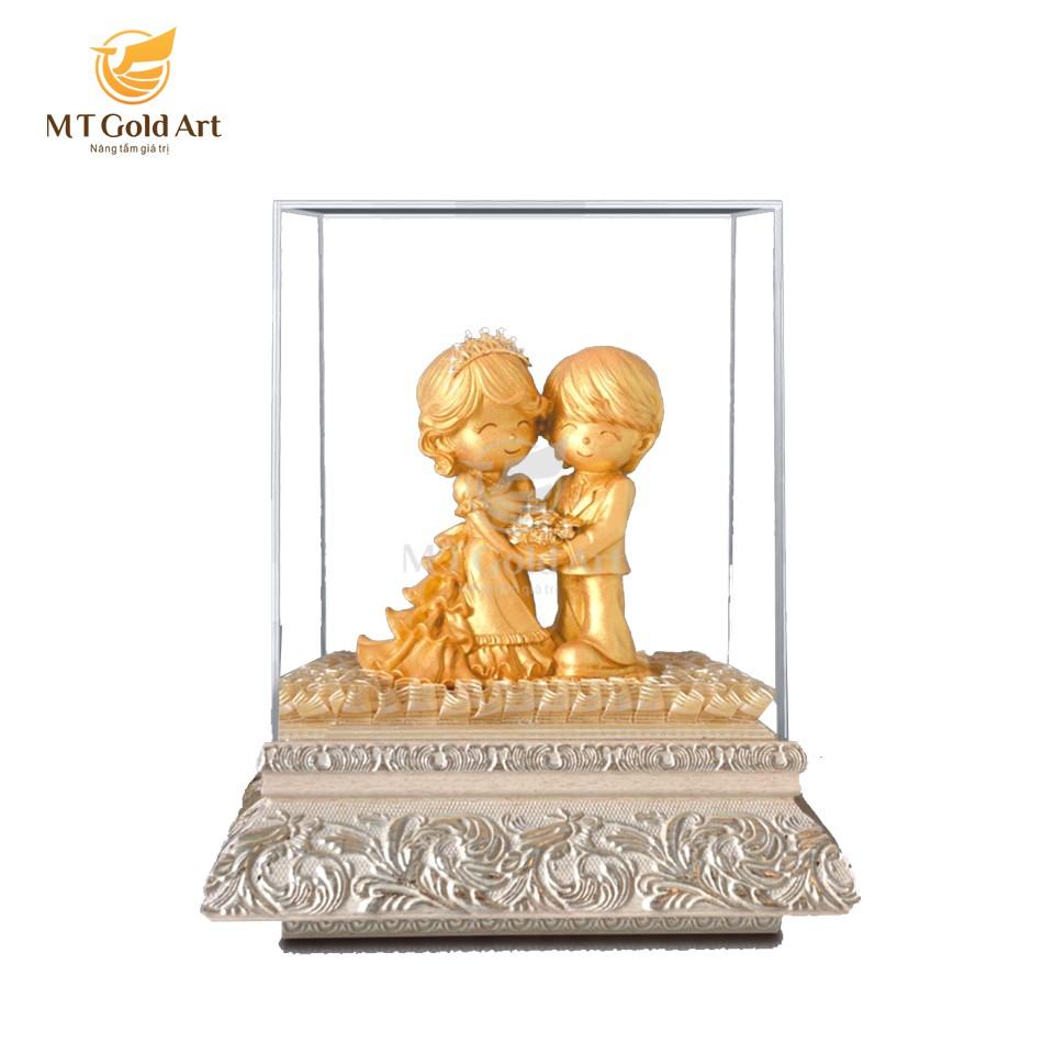 Tượng cô dâu chú rể dát vàng 24k