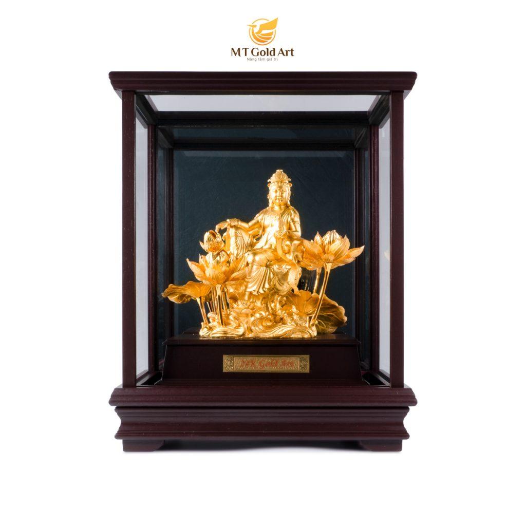 Tượng Phật Bà Quan Âm dát vàng 24k