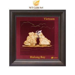 Tranh Vịnh Hạ Long dát vàng 24k